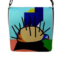 Hedgehog Flap Messenger Bag (L)