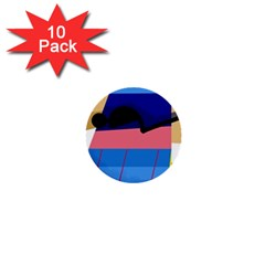 Jumping 1  Mini Buttons (10 pack)