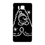 Funny Snowball Doodle Black White Samsung Galaxy Alpha Hardshell Back Case Front