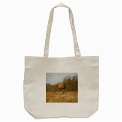 Red Deer Stag on a Hill Tote Bag (Cream)