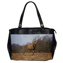 Red Deer Stag on a Hill Office Handbags