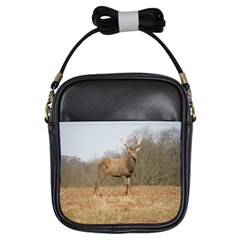 Red Deer Stag on a Hill Girls Sling Bags