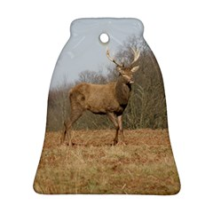 Red Deer Stag on a Hill Bell Ornament (2 Sides)