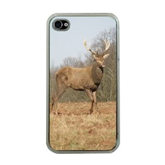 Red Deer Stag on a Hill Apple iPhone 4 Case (Clear)