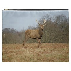 Red Deer Stag on a Hill Cosmetic Bag (XXXL)
