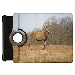 Red Deer Stag on a Hill Kindle Fire HD Flip 360 Case