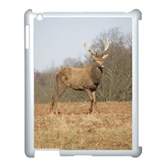 Red Deer Stag on a Hill Apple iPad 3/4 Case (White)