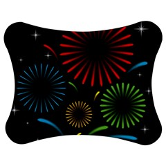 Fireworks With Star Vector Jigsaw Puzzle Photo Stand (Bow)