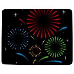 Fireworks With Star Vector Jigsaw Puzzle Photo Stand (Rectangular)