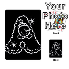 Funny Snowball Doodle Black White Multi-purpose Cards (Rectangle)