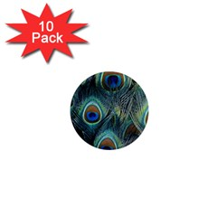 Feathers Art Peacock Sheets Patterns 1  Mini Magnet (10 pack)