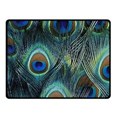 Feathers Art Peacock Sheets Patterns Fleece Blanket (Small)