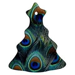Feathers Art Peacock Sheets Patterns Christmas Tree Ornament (2 Sides)