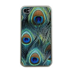 Feathers Art Peacock Sheets Patterns Apple iPhone 4 Case (Clear)