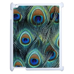 Feathers Art Peacock Sheets Patterns Apple iPad 2 Case (White)