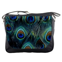 Feathers Art Peacock Sheets Patterns Messenger Bags