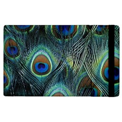 Feathers Art Peacock Sheets Patterns Apple iPad 2 Flip Case