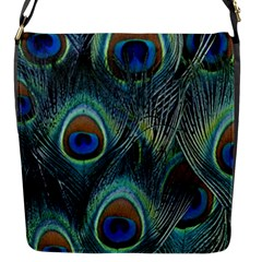 Feathers Art Peacock Sheets Patterns Flap Messenger Bag (S)