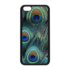 Feathers Art Peacock Sheets Patterns Apple iPhone 5C Seamless Case (Black)