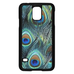 Feathers Art Peacock Sheets Patterns Samsung Galaxy S5 Case (Black)