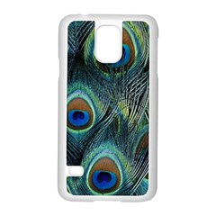 Feathers Art Peacock Sheets Patterns Samsung Galaxy S5 Case (White)