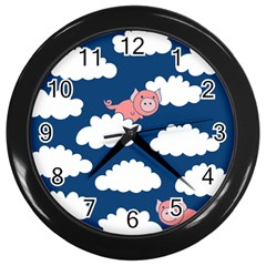 When Pigs Fly Wall Clocks (black)