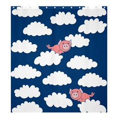 When Pigs Fly Shower Curtain 66  x 72  (Large)