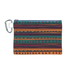 Ethnic Style Tribal Patterns Graphics Vector Canvas Cosmetic Bag (M)
