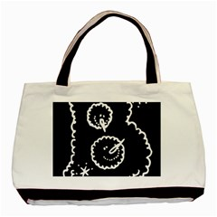 Funny Black And White Doodle Snowballs Basic Tote Bag
