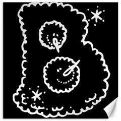 Funny Black And White Doodle Snowballs Canvas 12  x 12