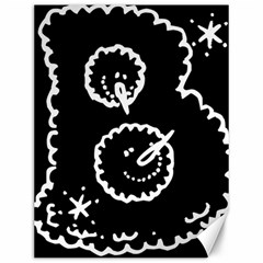 Funny Black And White Doodle Snowballs Canvas 12  x 16