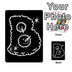 Funny Black And White Doodle Snowballs Multi-purpose Cards (Rectangle)
