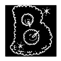 Funny Black And White Doodle Snowballs Face Towel