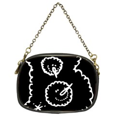 Funny Black And White Doodle Snowballs Chain Purses (Two Sides)