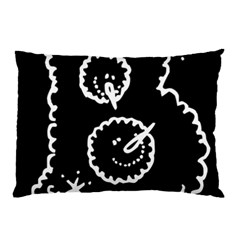Funny Black And White Doodle Snowballs Pillow Case