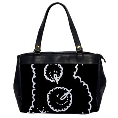 Funny Black And White Doodle Snowballs Office Handbags