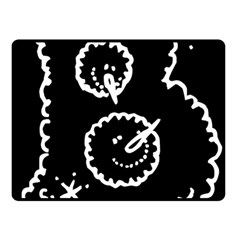 Funny Black And White Doodle Snowballs Fleece Blanket (Small)