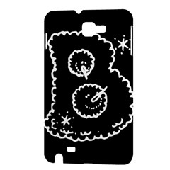Funny Black And White Doodle Snowballs Samsung Galaxy Note 1 Hardshell Case