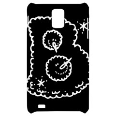 Funny Black And White Doodle Snowballs Samsung Infuse 4G Hardshell Case