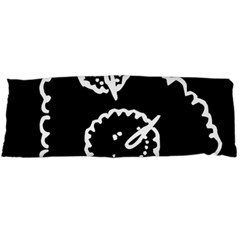 Funny Black And White Doodle Snowballs Body Pillow Case (Dakimakura)