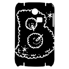 Funny Black And White Doodle Snowballs Samsung S3350 Hardshell Case