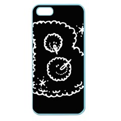 Funny Black And White Doodle Snowballs Apple Seamless iPhone 5 Case (Color)
