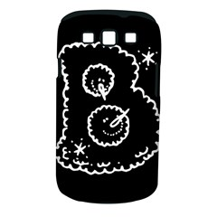 Funny Black And White Doodle Snowballs Samsung Galaxy S III Classic Hardshell Case (PC+Silicone)