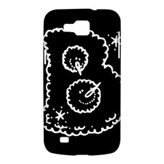 Funny Black And White Doodle Snowballs Samsung Galaxy Premier I9260 Hardshell Case