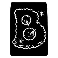 Funny Black And White Doodle Snowballs Flap Covers (L)