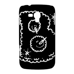 Funny Black And White Doodle Snowballs Samsung Galaxy Duos I8262 Hardshell Case