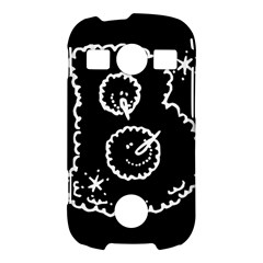 Funny Black And White Doodle Snowballs Samsung Galaxy S7710 Xcover 2 Hardshell Case