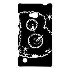 Funny Black And White Doodle Snowballs Nokia Lumia 720
