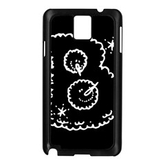 Funny Black And White Doodle Snowballs Samsung Galaxy Note 3 N9005 Case (Black)