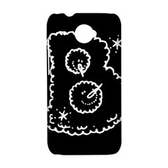 Funny Black And White Doodle Snowballs HTC Desire 601 Hardshell Case